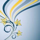 Conception florale abstraite avec des centrales illustration de vecteur