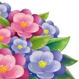 Conception florale avec la violette Photo stock