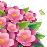 Conception florale avec la violette Image libre de droits
