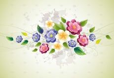 Conception florale avec la violette Images libres de droits