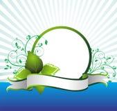 Conception florale avec le branchement vert illustration libre de droits