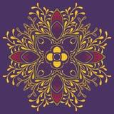 Conception florale détaillée d'écharpe Images libres de droits