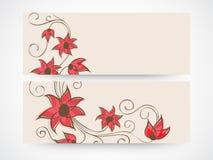 Conception florale d'en-tête ou de bannière de site Web Image stock