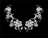 Conception florale de broderie de cou dans le style baroque Photo libre de droits