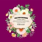 Conception florale de cadre Photo stock