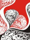 Conception florale de coeur illustration libre de droits
