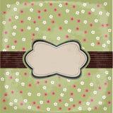 Conception florale de cru Images stock