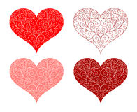 Conception florale de forme de coeur Photo stock