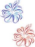 Conception florale de ketmie abstraite illustration de vecteur