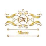 Conception florale de monogramme de calligraphie, logo de modèle de vintage Photographie stock libre de droits