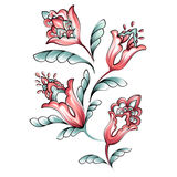 Conception florale de motif d'aquarelle Images stock