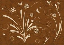 Conception florale de vecteur abstrait Photographie stock