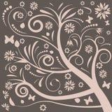 Conception florale de vecteur abstrait illustration libre de droits