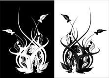 Conception florale graphique illustration stock