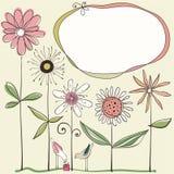 Conception florale mignonne illustration de vecteur