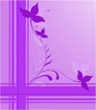Conception florale pourprée illustration libre de droits