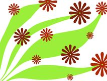 Conception florale rouge illustration stock