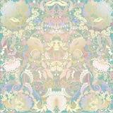 conception florale sur le fond beige Image stock