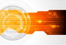 Conception foncée de vecteur de technologie Image libre de droits