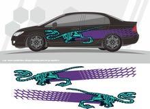 Conception fraîche de rayures de dinosaures pour des voitures Images stock