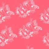 Conception fraîche de typographie de lineart d'amour avec le vecteur rose de répétition de fond Image libre de droits