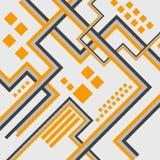 Conception futuriste abstraite de fond Le concept de construction architectural, industriel et scientifique fonctionne Lignes Ill Photos libres de droits