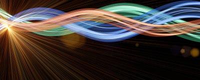 Conception futuriste de fond de vague de technologie photographie stock