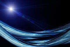 Conception futuriste de fond de vague de technologie Photos libres de droits