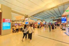 Conception futuriste de l'aéroport international de Suvarnabhumi à Bangkok, Thaïlande Image stock