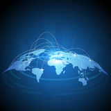 Conception futuriste du trafic de carte du monde Photos stock