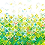 Conception géométrique de modèle de mélange coloré abstrait de mosaïque, ton de la gradation de couleur ci-dessous à la partie su Photos stock