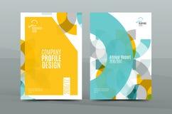 Conception géométrique de mosaïque, couverture d'entreprise de lettre de correspondance d'affaires de la taille a4 illustration de vecteur