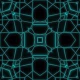 Conception géométrique de tuile de lueur au néon abstraite illustration libre de droits