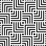 Conception géométrique noire et blanche de fond de modèle | Art moderne abstrait décoratif Photographie stock libre de droits