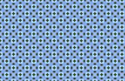 Conception géométrique verte bleue de modèle de mosaïque blanche illustration de vecteur