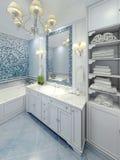 Conception gracieuse d'art déco de salle de bains Image stock