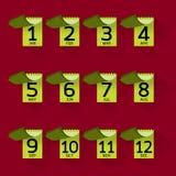 Conception graphique d'icône mensuelle avec la longue ombre Photos libres de droits
