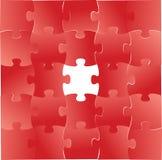 Conception graphique d'illustration de morceaux rouges de puzzle Images libres de droits