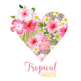 Conception graphique de coeur floral Photo stock