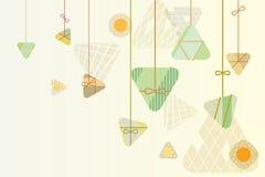 Conception graphique de fond de boulettes de riz pour le festival de bateau de dragon illustration stock