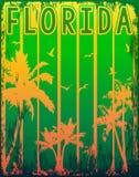 Conception graphique de pièce en t d'été de la Floride illustration libre de droits