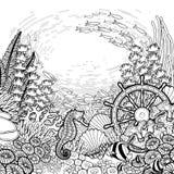 Conception graphique de récif coralien images libres de droits