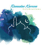 Conception graphique de Ramadan illustration libre de droits