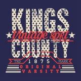 Conception graphique de rois de T-shirt Timbre de T-shirt d'usage de sport, All Star illustration de vecteur