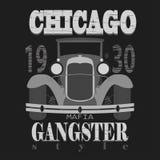 Conception graphique de T-shirt de Chicagol Style de bandit Photographie stock libre de droits