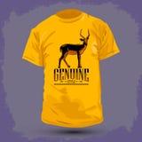 Conception graphique de T-shirt - impala véritable Photo libre de droits