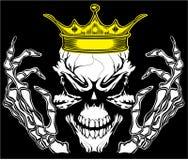Conception graphique de vecteur de T-shirt du Roi Poster Vintage Man de crâne Photos stock