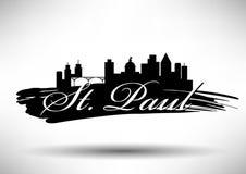 Conception graphique de vecteur de St Paul City Skyline illustration libre de droits