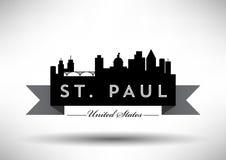 Conception graphique de vecteur de St Paul City Skyline illustration de vecteur