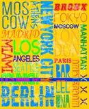 Conception graphique de vecteur de T-shirt d'homme de slogan de vintage de noms de ville illustration libre de droits